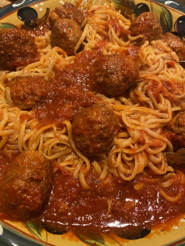 Delicious spaghetti dinner from D'Cocco's Pizza.